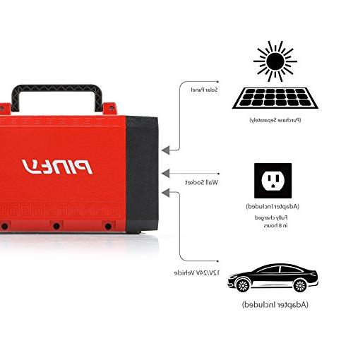 Pinty Supply UPS Backup, Rechargeable Generator Source USB, for and Indoors