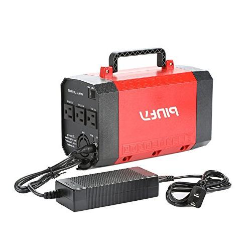 Pinty Portable Uninterrupted Power Supply 500W, Battery Backup, Source with USB, DC for and