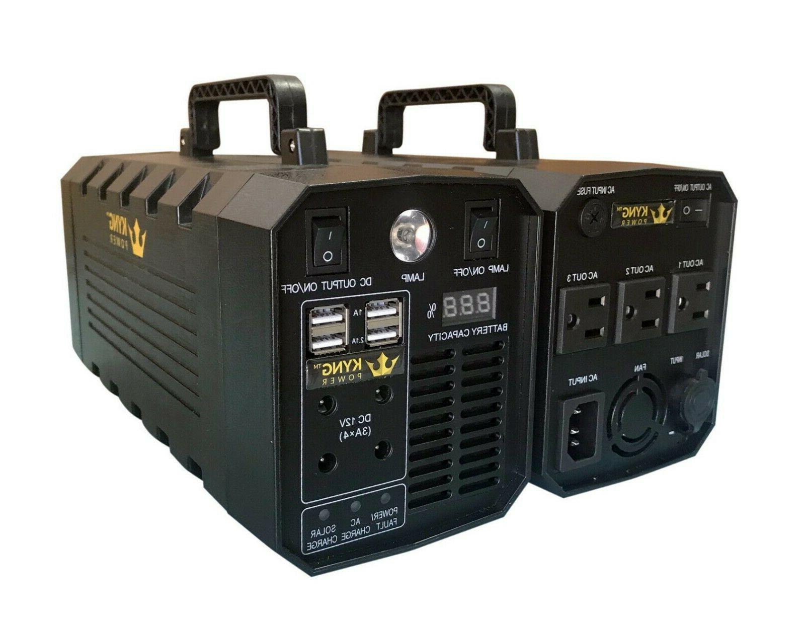 KYNG Power Portable Station 500W Solar Lithium Battery
