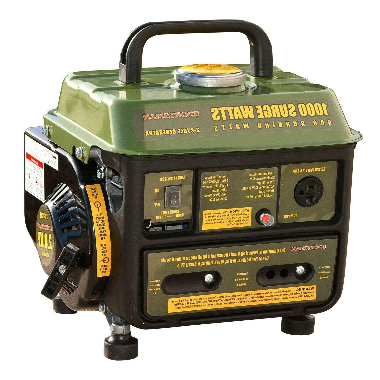 Sportsman Series 1000 Surge Watt Portable Emergency Generato