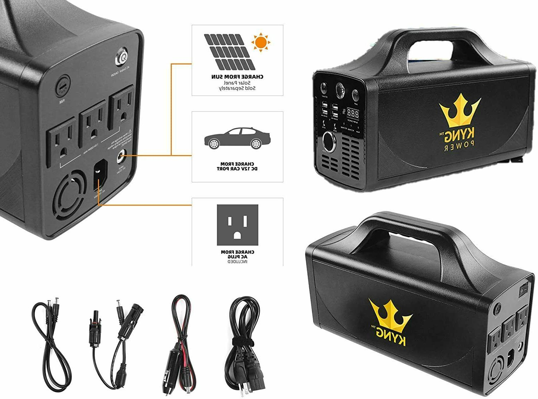 Kyng Power Solar Generator 500W Solar Portable Emergency UPS