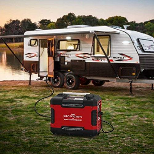 Rockpals 2000-Watt Inverter Generator, 9 Time Portable Gas Power Compliant With Parallel Ready, 2 USB DC
