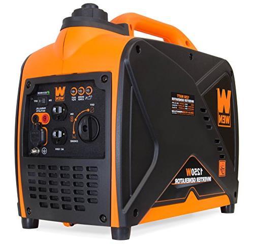 WEN 56125i Quiet 1250-Watt Portable Generator,