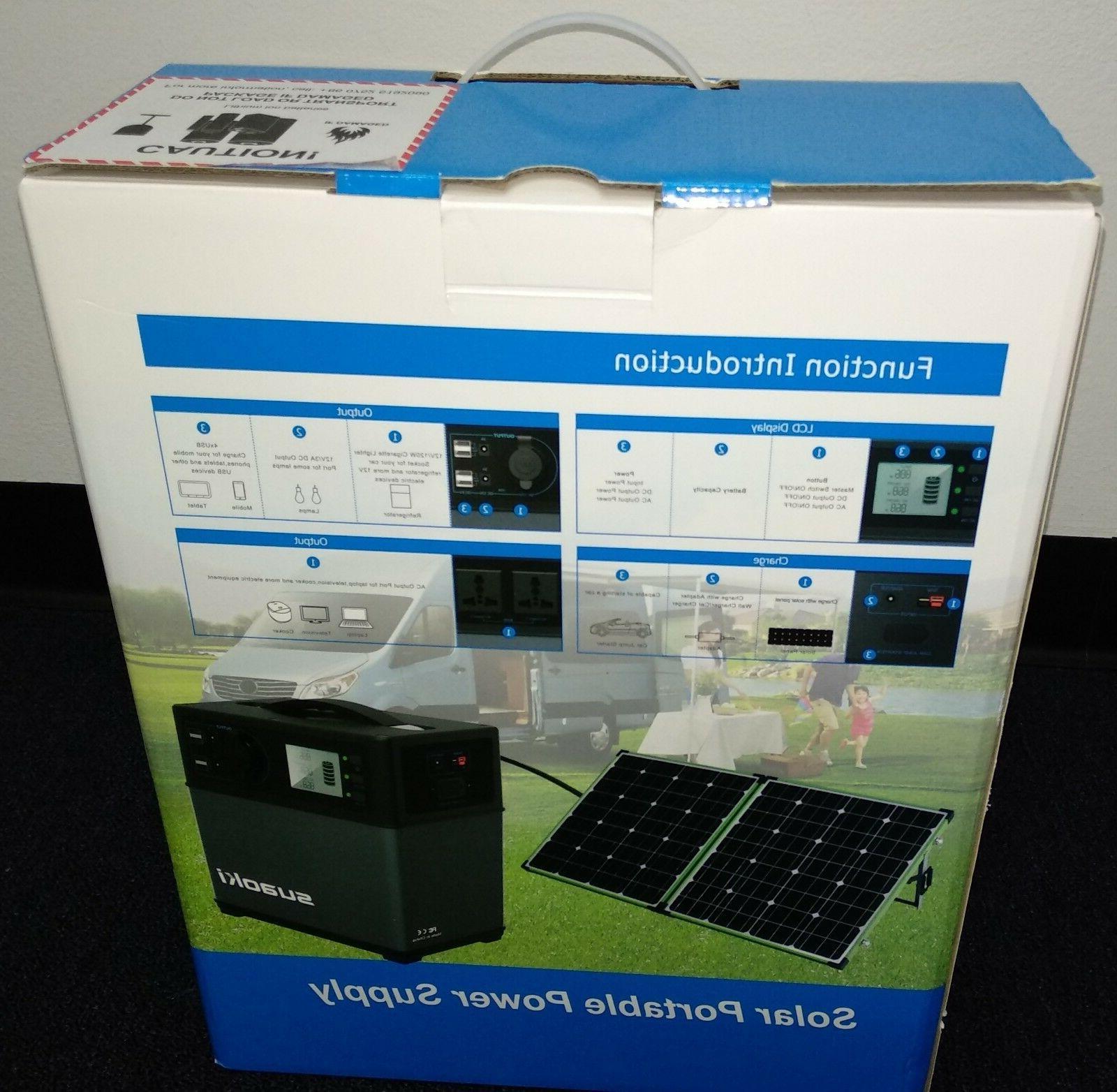 us seller new 400wh lithoium portable solar