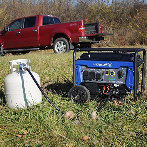 Westinghouse Dual Fuel Electric Start Portable Generator - Rated Watts & 4650