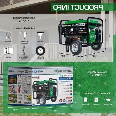 DuroMax XP4850EH Dual Fuel Propane Gas Camping RV Generator