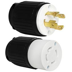 Iron Box L14-30 Plug and Connector Set - Rated 30A, 125/250V