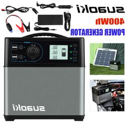New 400Wh Suaoki Jump Starter Cars Solar Power Inverter Ligh