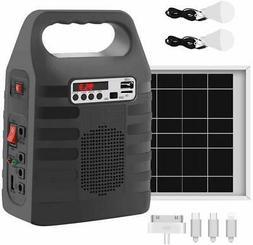 New Portable Solar Generator Solar Panel Power Inverter Elec