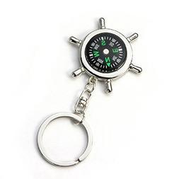 Bolayu New Portable Alloy Nautical Compass Helm Keychain Rin