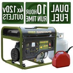 Sportsman Portable Generator 4000/3500 Watt Dual Fuel Powere