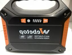Webetop Portable Generator Battery and Flashlight 100W 42000