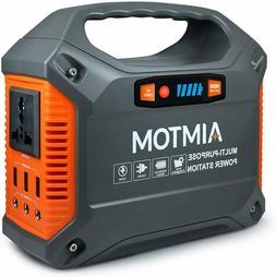 AIMTOM Portable Solar Generator, 42000mAh 155Wh Power Statio