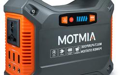AIMTOM Portable Solar Generator, 42000mAh 155Wh Energy Inver