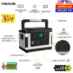 Suaoki Power Station 500Wh Rechargeable Solar Generator Emer