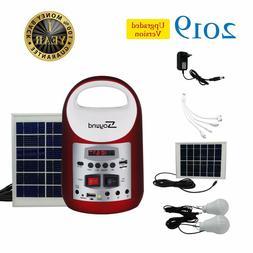 Red  Portable Solar Generator Solar Panel Power Inverter Ele