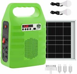 Solar Panel Generator Power Source Portable Outdoor Emergenc