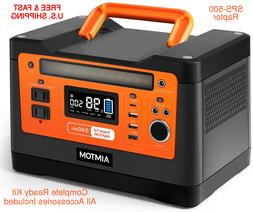 SOLAR POWER Backup Generator Portable Rechargeable Lithium 5