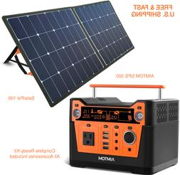 SOLAR POWER KIT Backup Generator 300W Portable Rechargeable