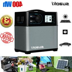 Suaoki 400wh Power Station Solar Generator Supply Power Char
