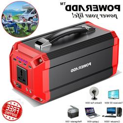 Portable 300W 73000mAh Solar Power Inverter Generator Supply