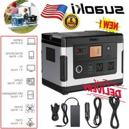Suaoki Portable 500Wh Portable Solar Generator Power Station