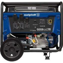 Westinghouse WGen6000 6000W/7500W Electric Start Portable Ge